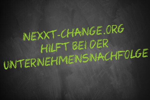 Nexxt-change.org hilft bei Unternehmensnachfolge - Schriftzug