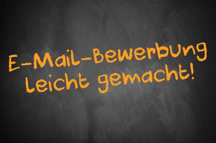 Tafelschrift: E-Mail-Bewerbung leicht gemacht!