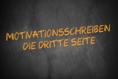 Motivationsschreiben: Die dritte Seite - Schriftzug