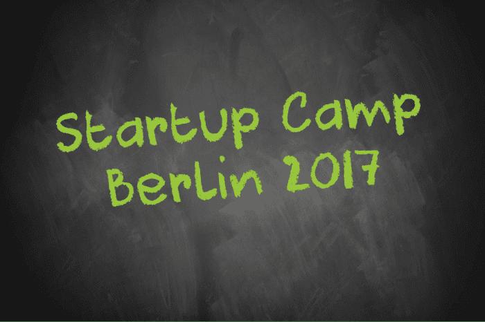 Tafelschrift Startup Camp Berlin 2017