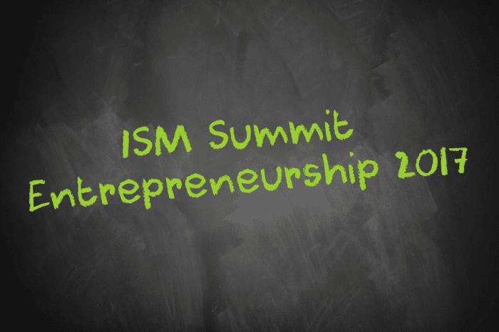 Tafelschrift ISM Summit Entrepreneurship 2017