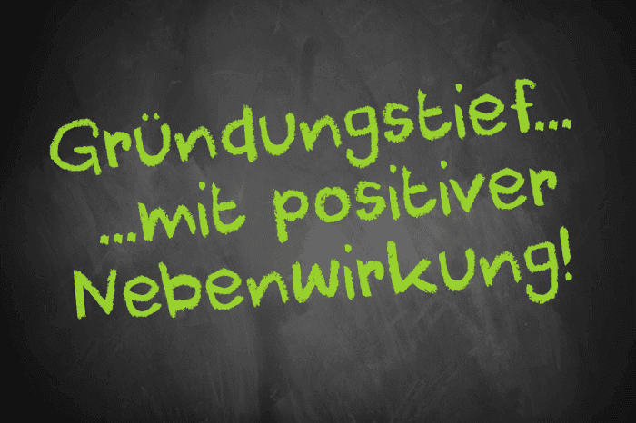 Tafelschrift: Gründungstief mit positiver Nebenwirkung