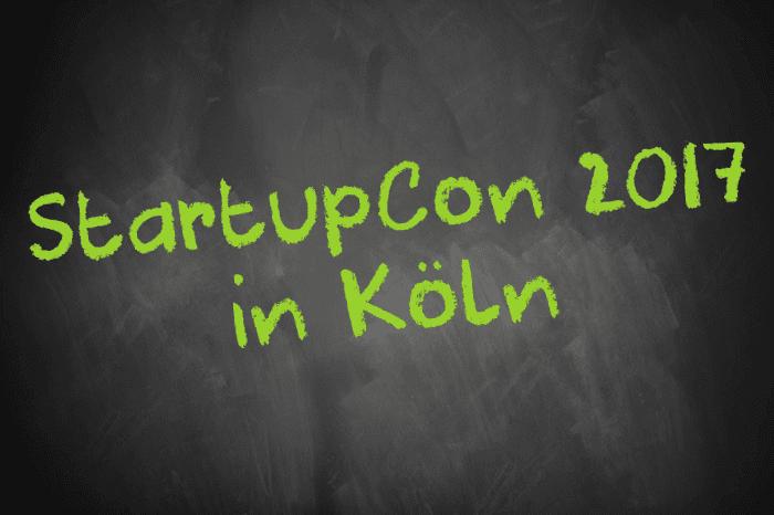Tafelschrift: StartupCon 2017 in Köln