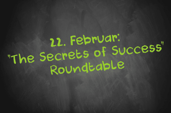 Tafelschrift: The Secrets of Success