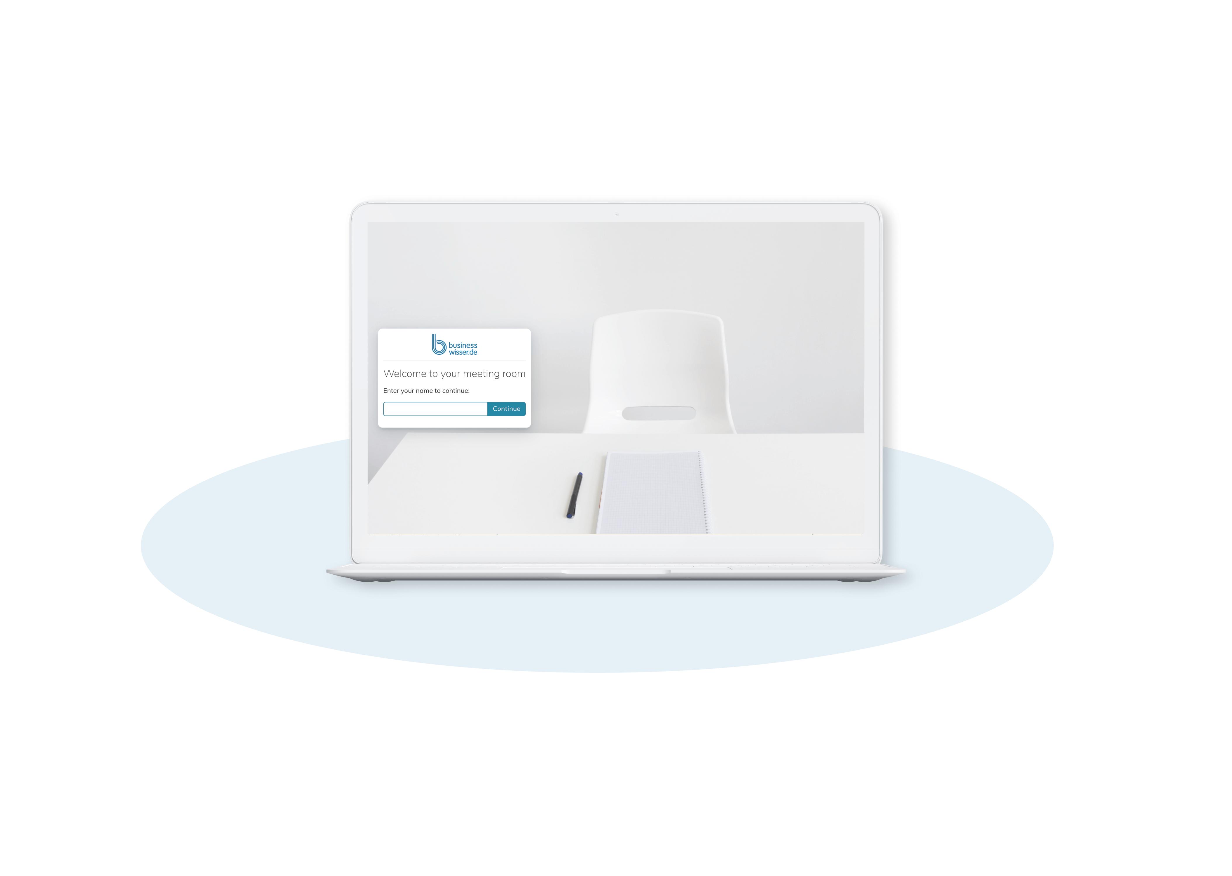 Per Teilnahme-Link gelangen Sie zum Meetingraum für das virtuelle Gründer-Coaching.